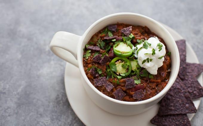 Easy Instant Pot Vegetarian Chili