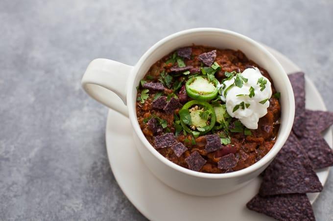 Easy Instant Pot Vegetarian Chili – Recipe Redux