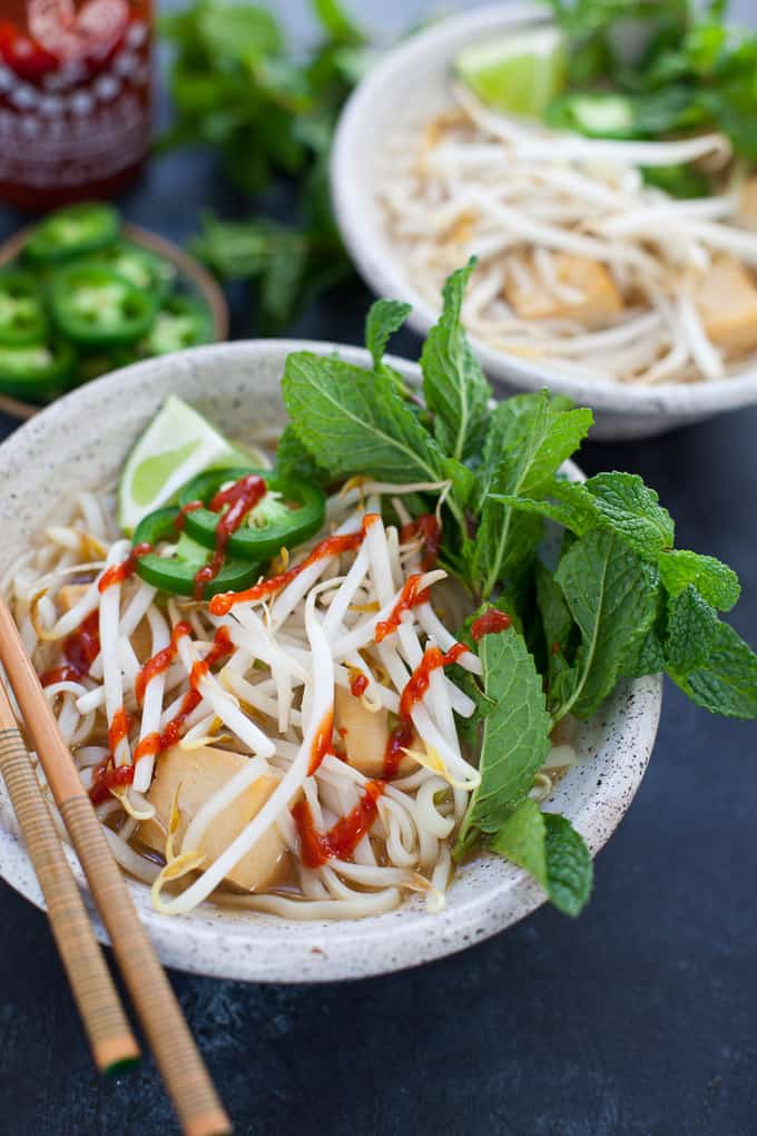 Instant Pot Vegetarian Pho, vegan and gluten free friendly!