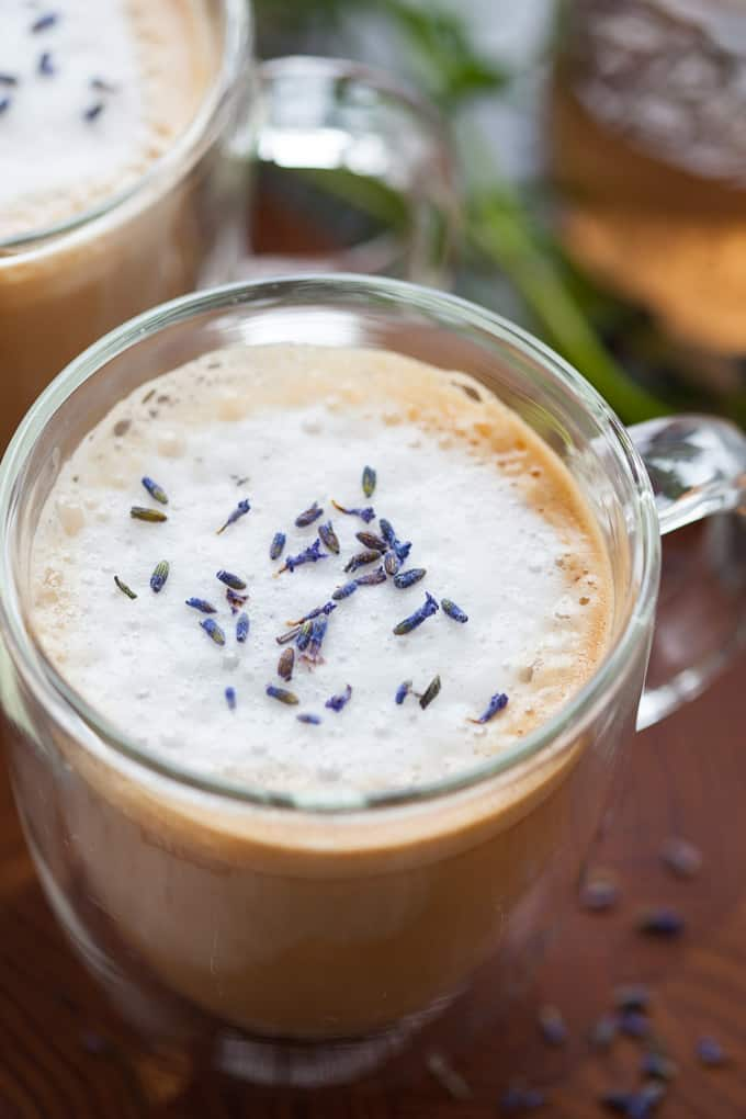 Warm, grounding and totally cozy, this lavender almondmilk latte is perfect for a slow morning or when you just need a moment to yourself.