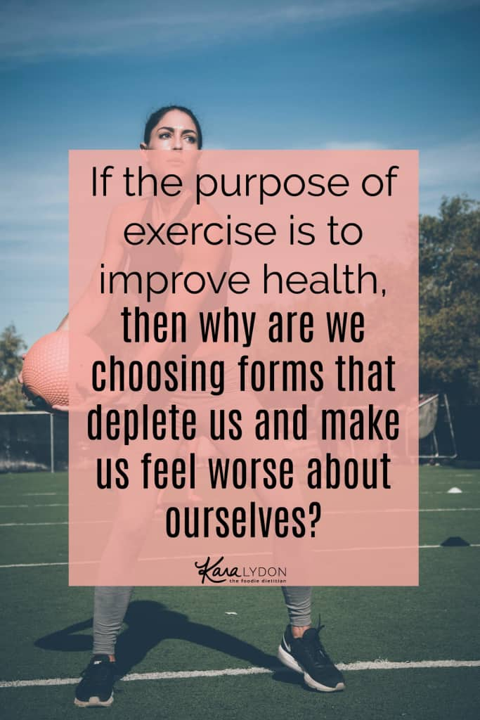 Are you overexercising? How to make shifts towards intuitive movement. #exercise #bodypositivity