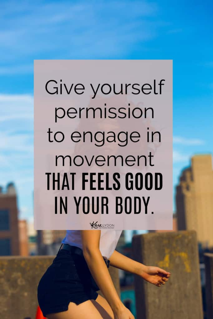 A post about why I decided to stop taking the stairs and more importantly how to shift from over-exercising to moving intuitively and choosing exercise that feels good. #intuitivemovement #bodypositive
