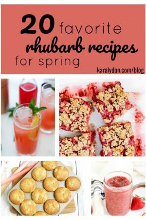 20 Favorite Rhubarb Recipes for Spring