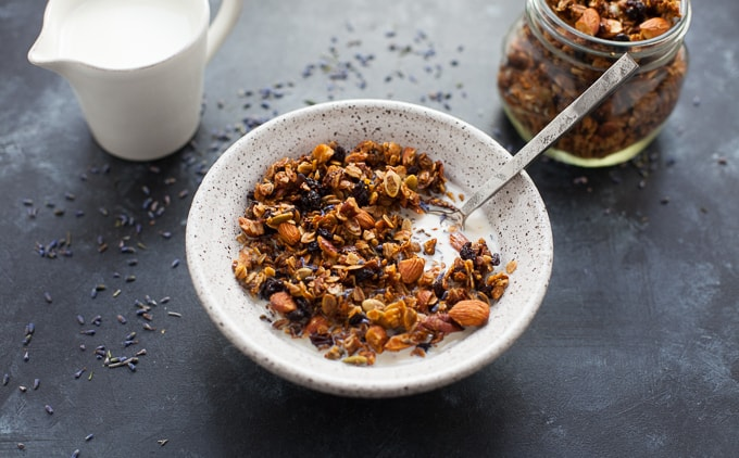 The Best Lavender Granola