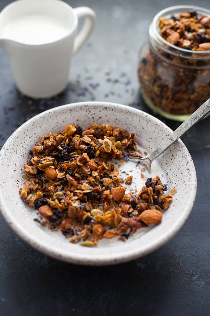 easy lavender granola (easy to make gluten free!)