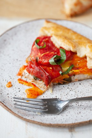 Heirloom Tomato Basil Galette