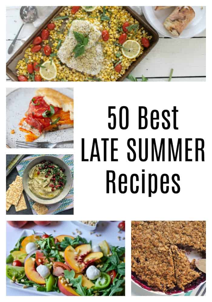 Summer may be winding down, but this time of year brings a fantastic array of seasonal produce. These 50 best late summer recipes highlight the stars of late summer:eggplant, tomatoes, corn, summer squash, zucchini, and peaches. With everything from zoodles to peach crisp, you're gonna want to head straight to the farmer's market!