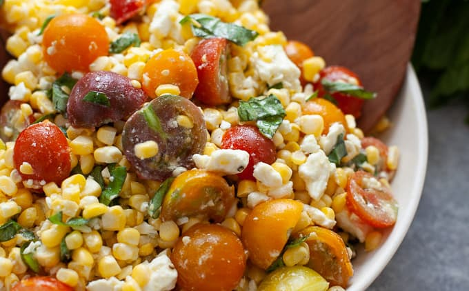 6 Ingredient Corn and Tomato Salad