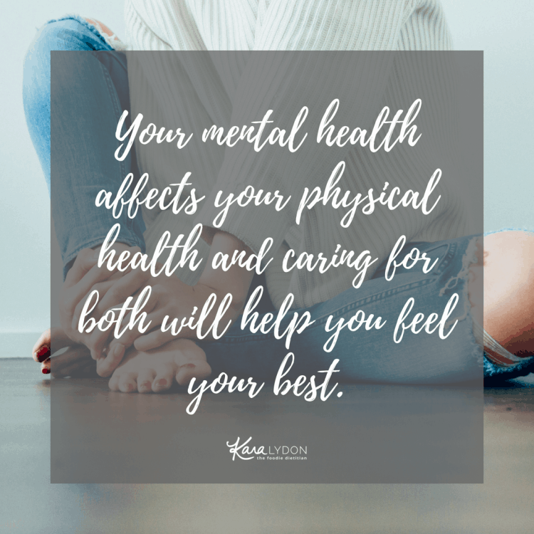 Your mental health affects your physical health and caring for both will help you feel your best. #mentalhealth