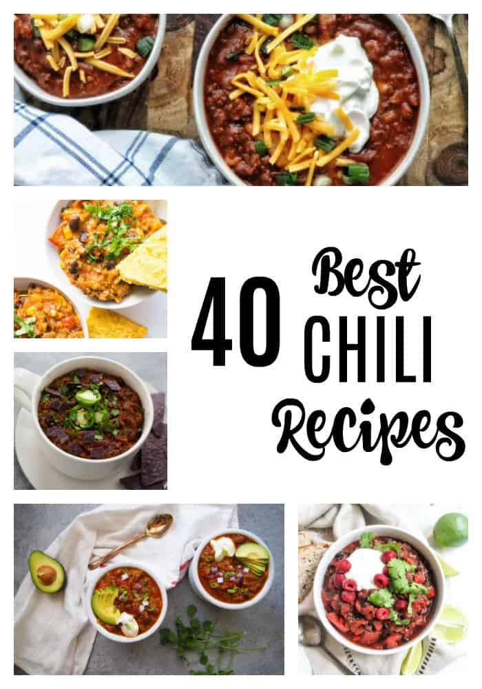 As the weather gets cooler, sweaters come out, and pumpkin pie spice lines store shelves, it's the perfect time for chili. Ideal for weeknight dinners or to feed a crowd, I'm pretty sure chili is THE classic one pot meal. It's also not just ground beef and tomatoes; chili is extremely versatile, showcased by the 40 best chili recipes below!
