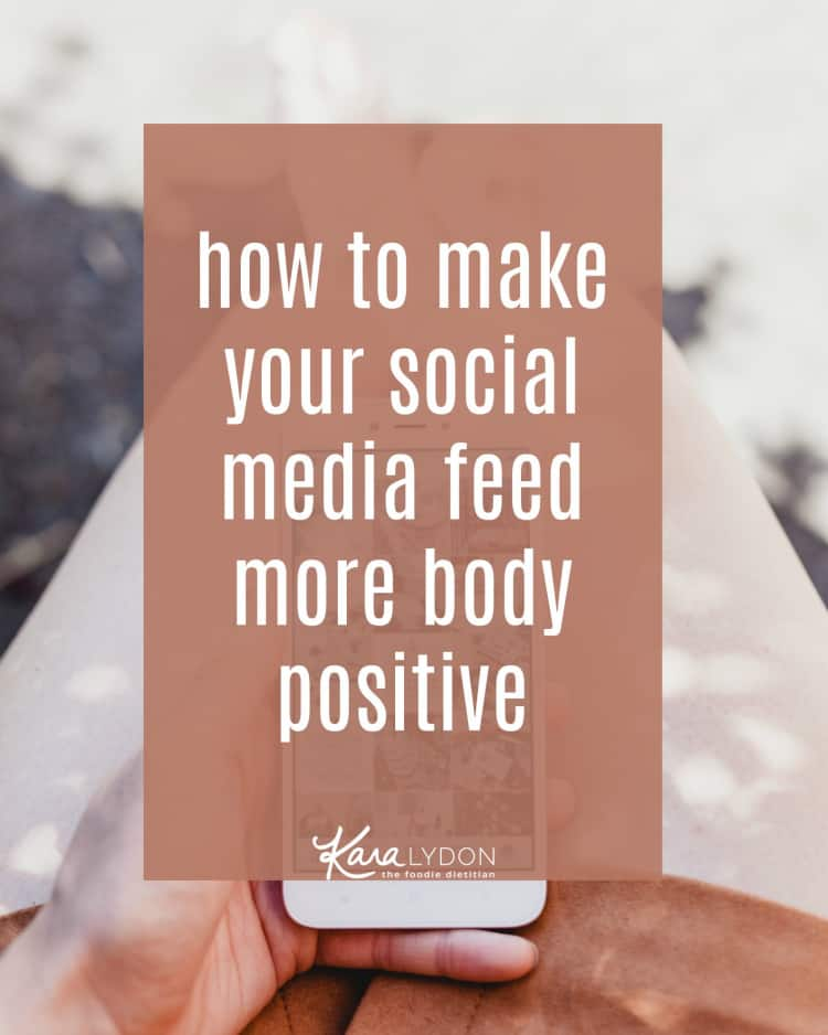 Social media got you feeling crappy about your body? You're not alone - research proves that social media makes us feel less satisfied. Which is why I'm sharing a step-by-step guide on how to make your social media more body positive. #bopo #haes #bodyliberation #socialmedia