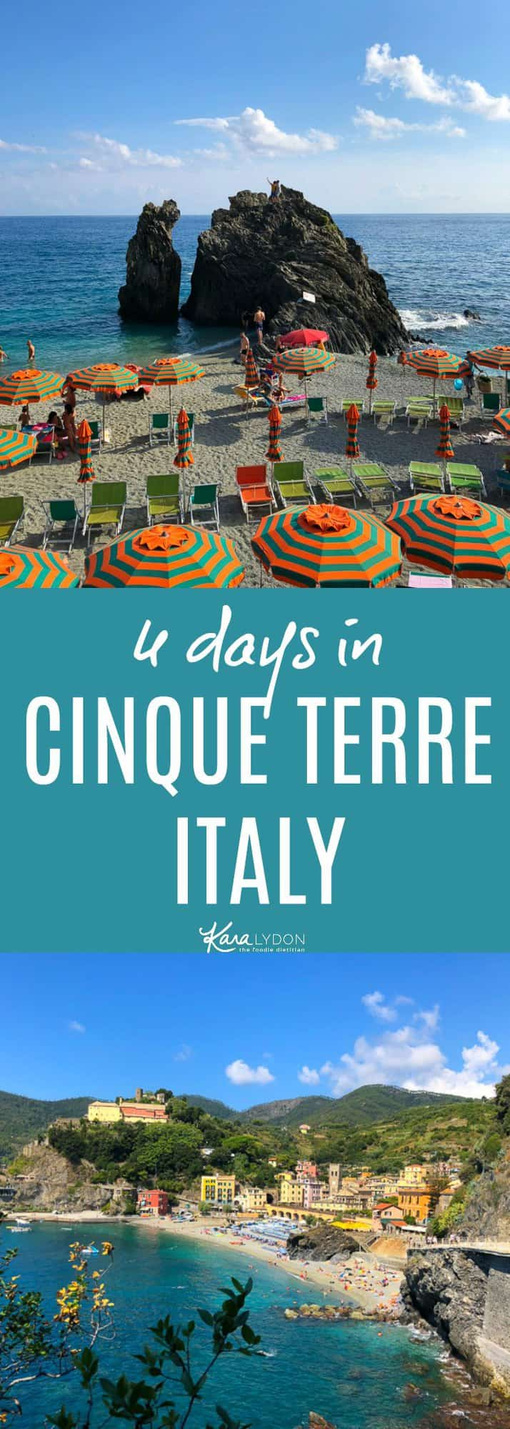 My favorite stop in Italy! Recapping our 3 days in Cinque Terre - what to do, where to stay and where to eat! #travel #italy #cinqueterre