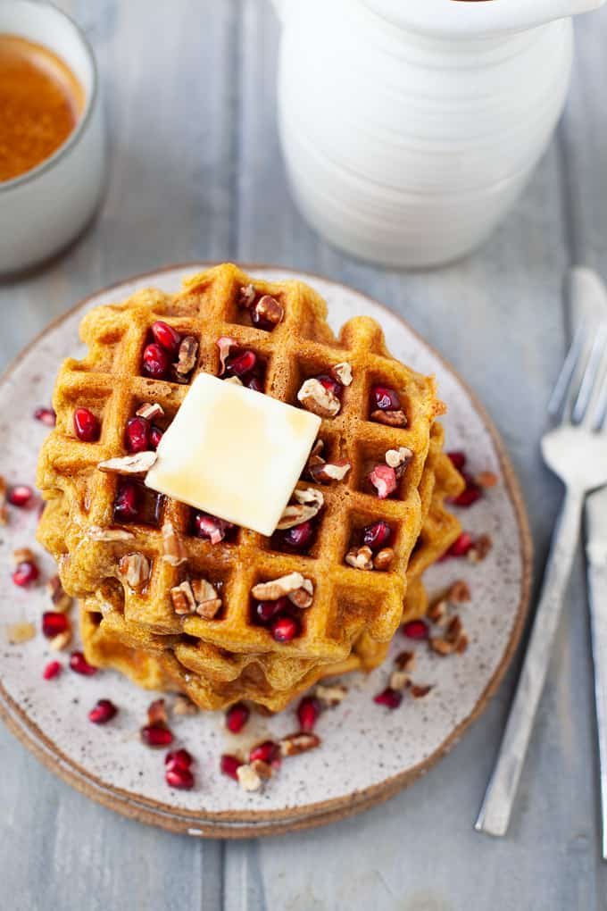 dairy free butternut squash waffles