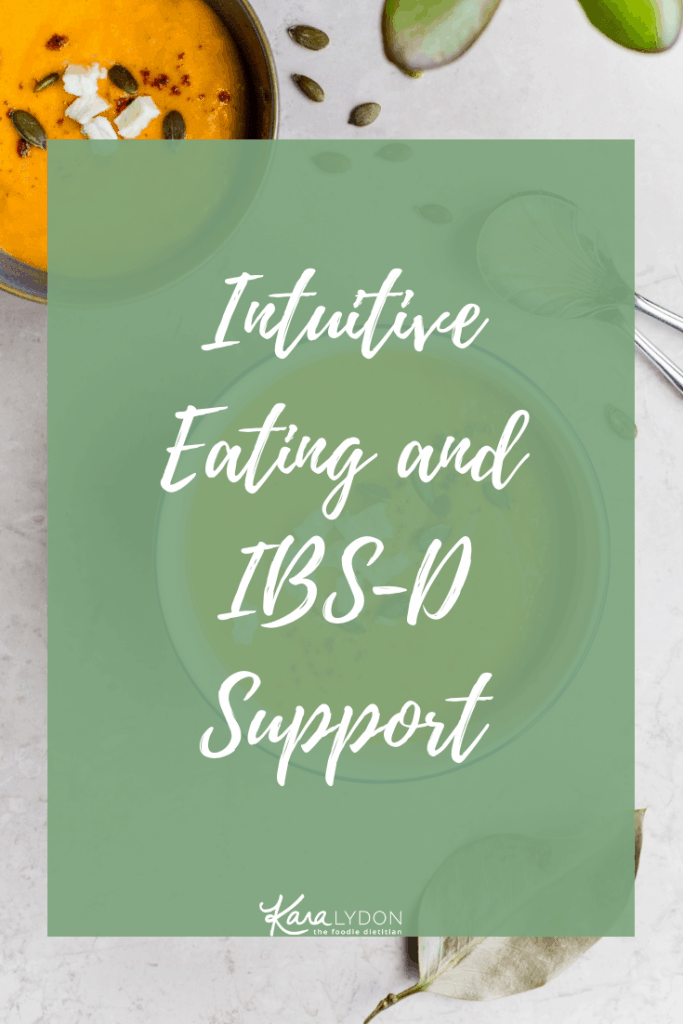 Taking a deep dive into IBS-D and how intuitive eating and non-diet approaches can play a role in the management of this disorder. #IBS #digestivehealth #guthealth #intuitiveeating