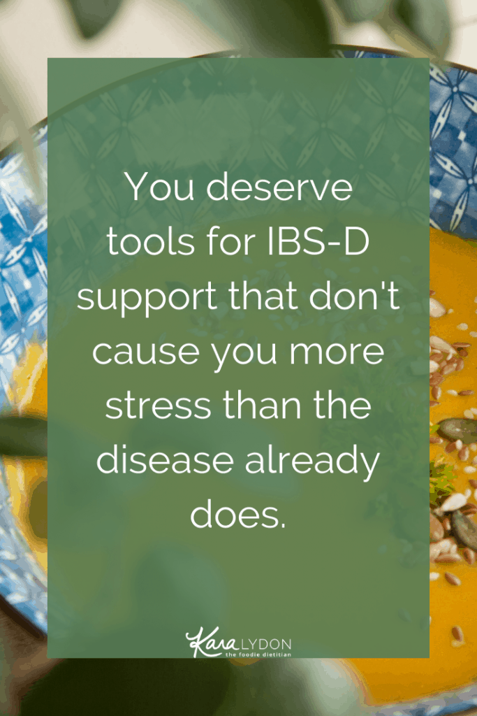 Taking a deep dive into IBS-D and how intuitive eating and non-diet approaches can play a role in the management of this disorder. #IBS #digestivehealth
