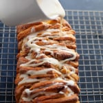 holiday pull-apart bread with eggnog glaze