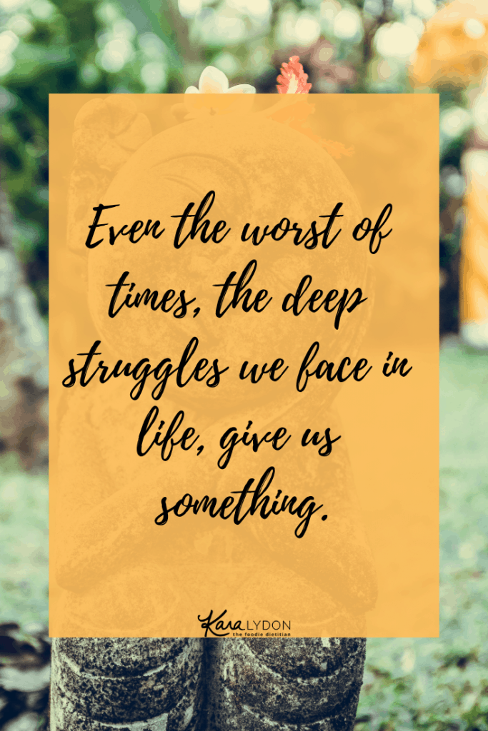 Even the worst of times, the deep struggles we face in life, give us something. Whether that's strength or patience or trust or faith or resilience. #recovery #strength #resilience