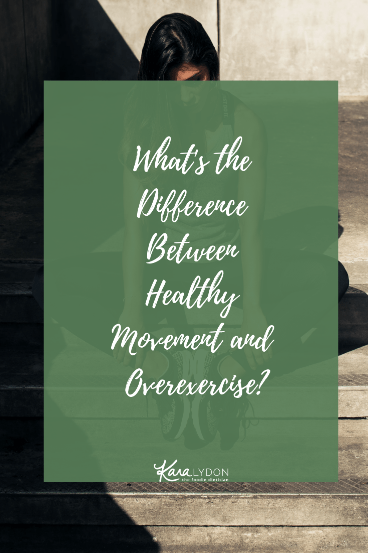 Ever wonder if your pursuit of exercise is supporting or hurting your health? Ever question whether or not you are overexercising? Today, we're talking about the difference and line between healthy movement and overexercise. #exercise #health #overexercise