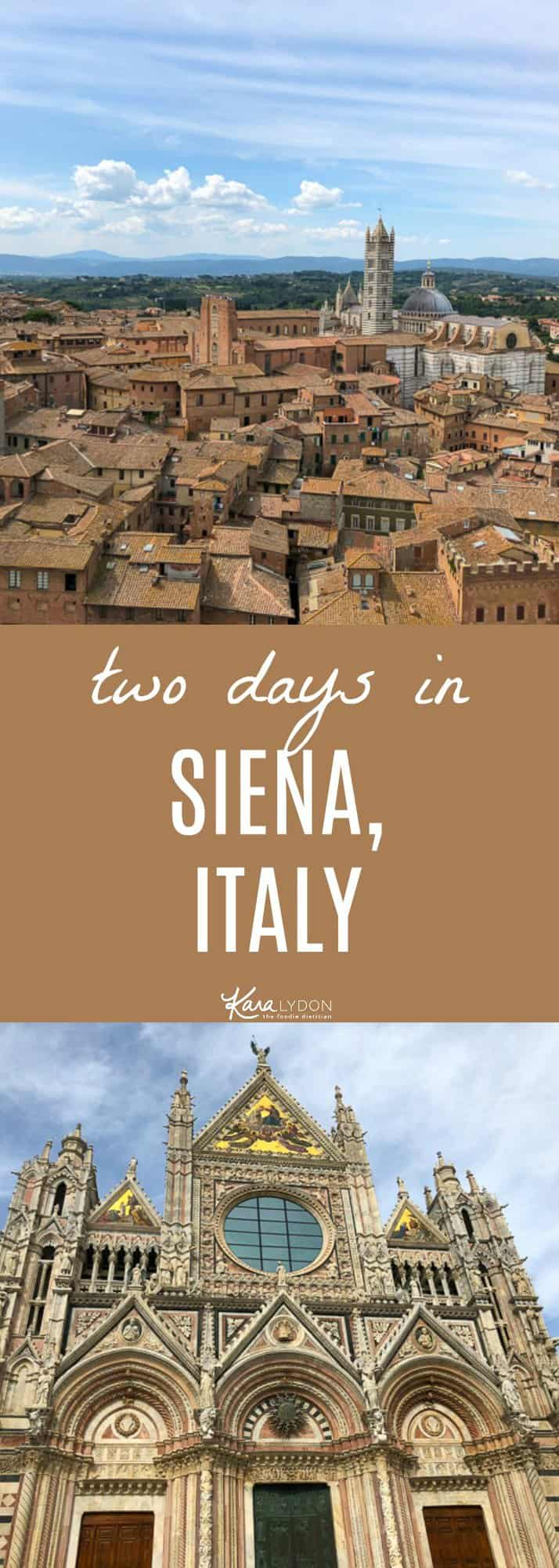 Recapping our two days in Siena, Italy. Where we ate, stayed and what we saw! #travel #italy #siena