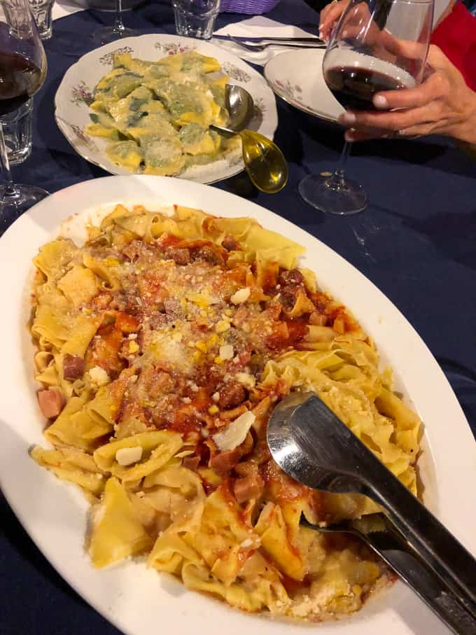 3 days in montepulciano - dinner at La Stringaie
