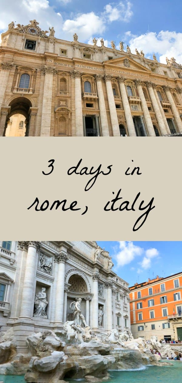 Recapping our 3 days in Rome, Italy! Sharing where we stayed, ate, and the must-see sights! #travel #rome #italy