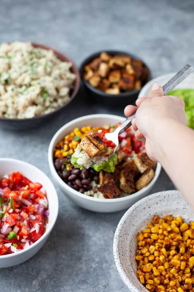 vegan burrito bowl - chipotle copycat