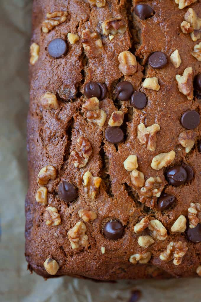 chocolate chip tahini banana bread