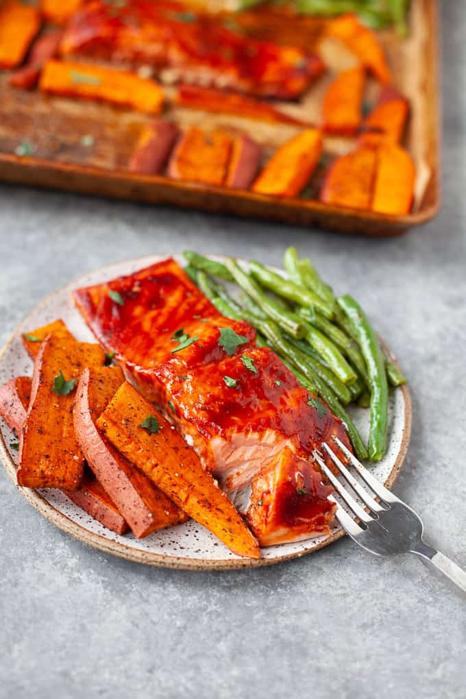 Sheet Pan BBQ Salmon Dinner