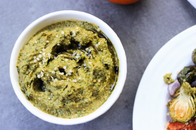 pumpkin cilantro pesto sauce