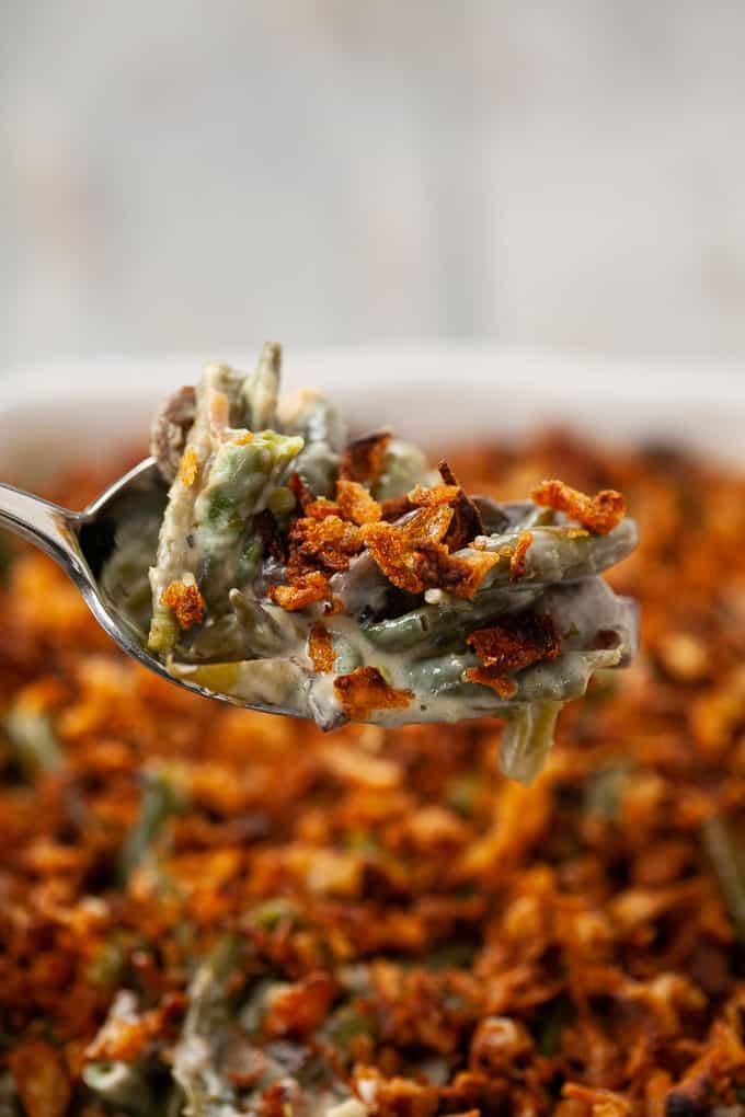 spoonful of green bean casserole