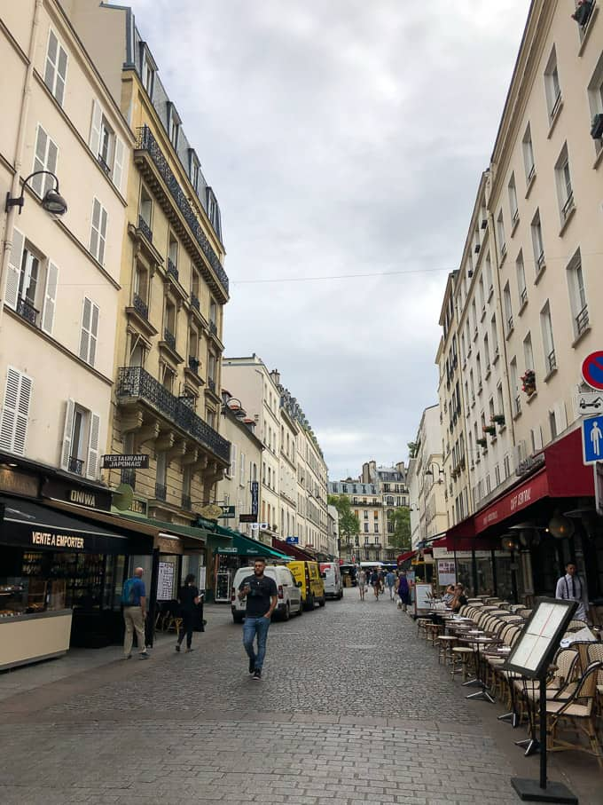 Rue Cler neighborhood in Paris