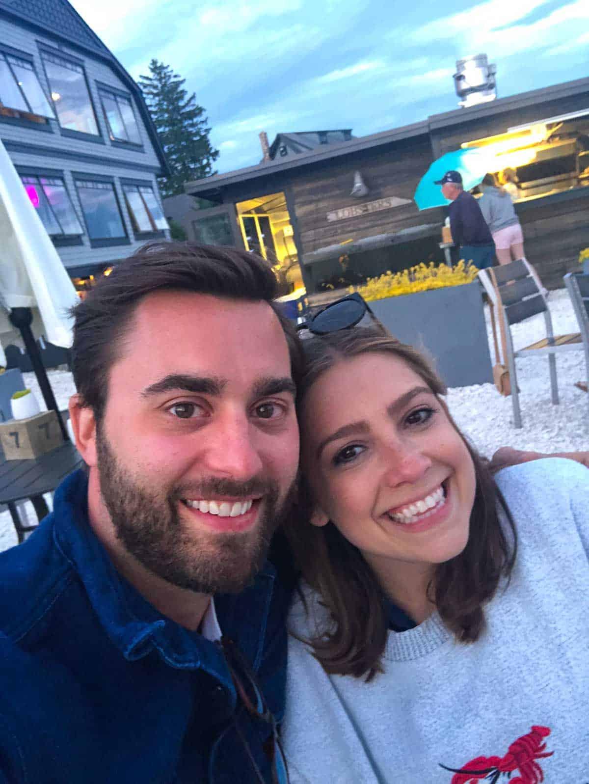 Kara and Steve visiting Maine