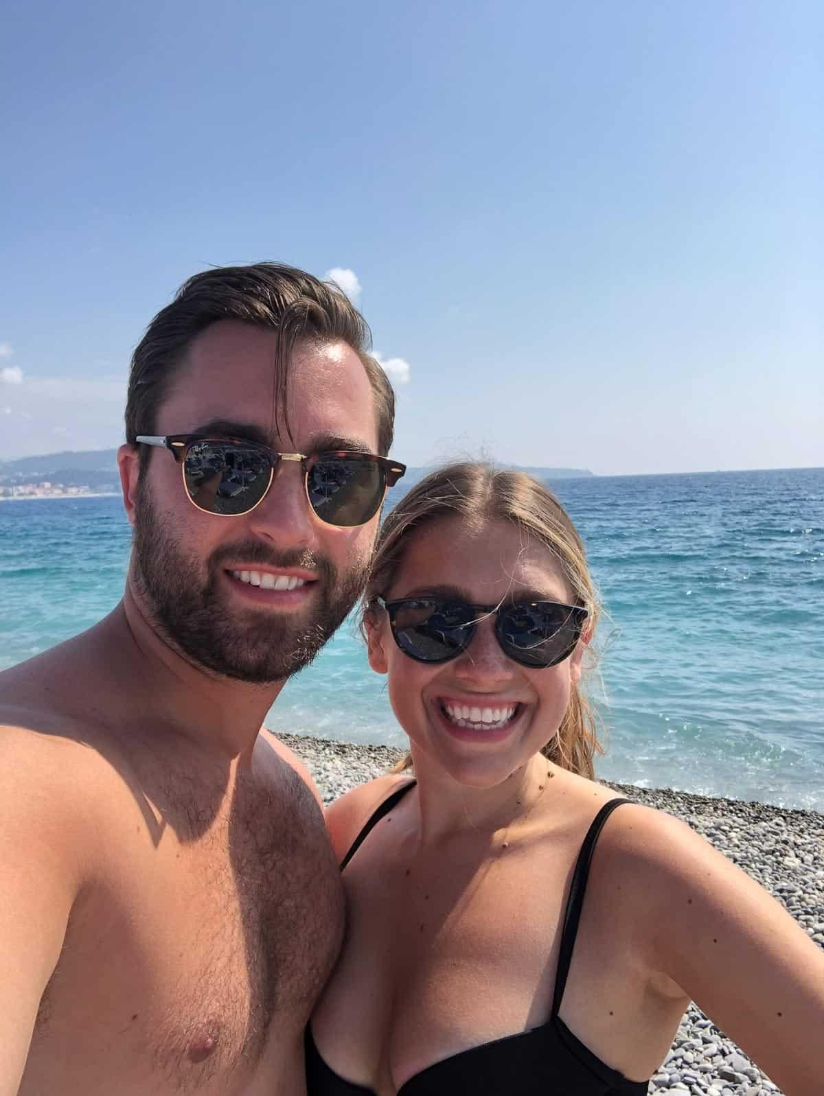 Kara and Steve on the beach
