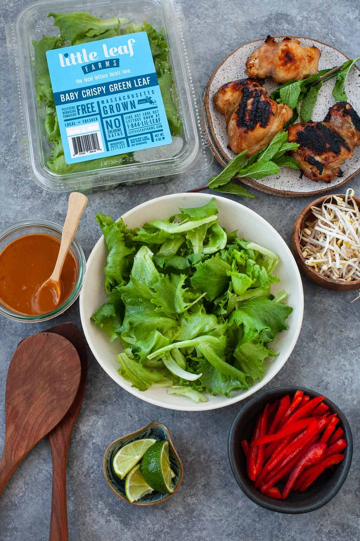 ingredients for thai chicken salad