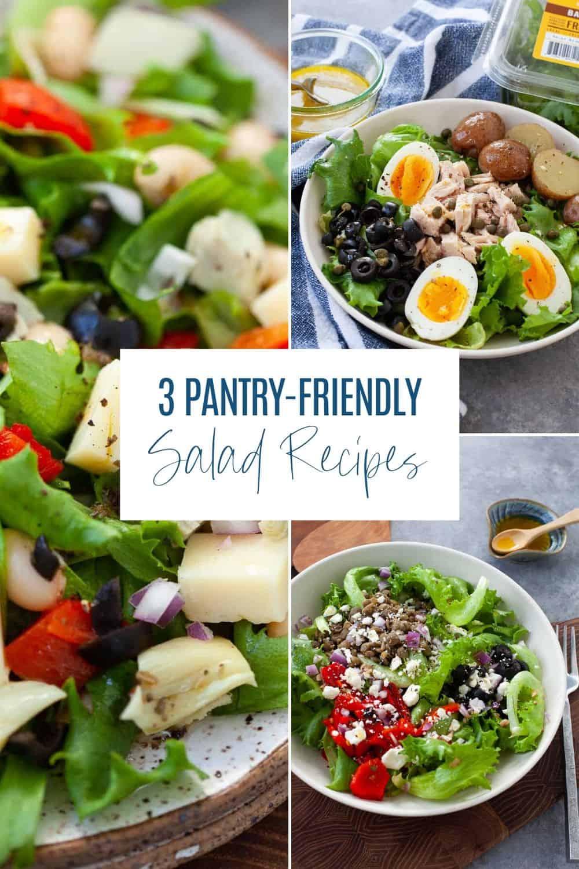 3 Pantry Friendly Salad Recipes The Foodie Dietitian Kara Lydon