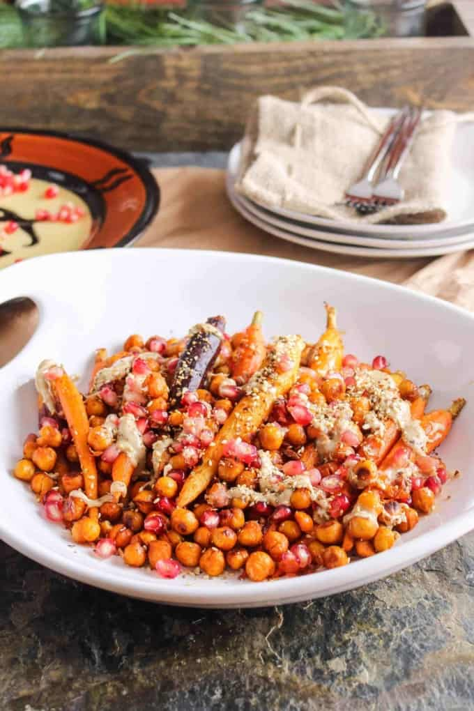 Harissa Roasted Carrots and Chickpeas 4 of 10