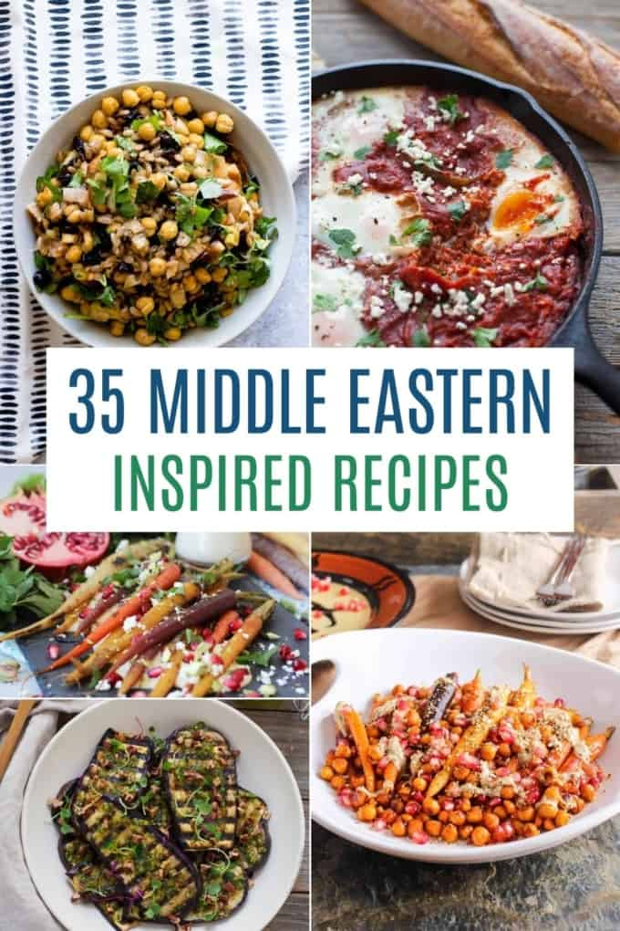 middle eastern inspired recipes to try pin